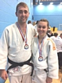 Gold for Dave Hulme and Silver medal for Noa Docherty, Rochdale Judo Club