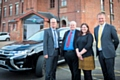 L-R: Steve Rumbelow Chief Executive of Rochdale Borough Council, Cllr Richard Farnell, leader of Rochdale Borough Council, Michelle Walton, from Rochdale Development Agency, and Andrew Marsh, Managing Director of Marsh Finance