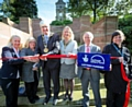Liz McInnes MP, Councillor June West, Mayor and Mayoress Ian and Christine Duckworth, Malcolm Allen and Sue Oakley