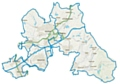 Map of the three new proposed constituencies: Rochdale, Prestwich and Middleton, and Littleborough and Saddleworth