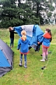 1st Whitworth Guides using the new camping equipment