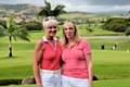 Lisa Duffy and Michelle Black in Mauritius