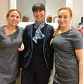 Samantha Collins and Stacey Cummins with Barclays Business Manager, Rachel Whalen