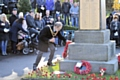 The Mayor of Whitworth lays a wreath