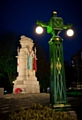 The 1920s lights have been restored in Rochdale Memorial Gardens