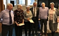 Rochdale Foodbank 5th Anniversary celebration with the over 80's volunteers and Tony Lloyd MP