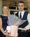 Milnrow Bands persons of the year and outgoing managers Natalie Beer and Chris Buckley
