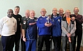 Rochdale AFC�s Walking Football team, Rochdale Strollers, David Brooks fourth from right