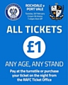 Watch Rochdale's League One fixture v Port Vale on 28 February for just £1