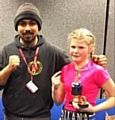 Saddee Khan with Allana Shaw, Hamer Amateur Boxing Club