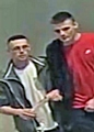 CCTV image of two men who officers believe may be able to assist enquiries