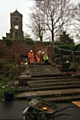 Edgar Wood�s staircase and exedra in Middleton�s Jubilee Park undergoing restoration
