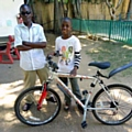 Haji with his bicycle from Reuse Littleborough