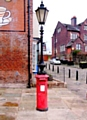 Combined letterbox/lamppost on Toad Lane