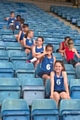 Anais Aston (front) at the ISA National Athletics Final