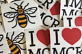 The Manchester Bee and I ❤️ MCR stickers by Capture Design