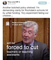 Tony Lloyd, Rochdale's MP has clashed with the government over its controversial funding formula