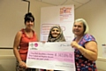 Home-Start Managers Donna McKenna (Rochdale), Razia Mohammed (Bolton) and Kate Brookes (Bury) were presented with over �343,000 in Lottery funding