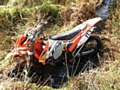 Police seize off road motorcycle