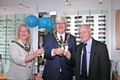 Paul Cheetham with the Mayor and Mayoress, Ian and Christine Duckworth
