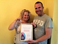 Kath and Andy O'Donnell, of The Three Amigos Fundraising Group, have been awarded a Cancer Research Flame of Hope
