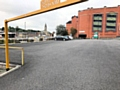 One of the empty car parks on the day the new �5 parking charge was introduced