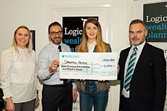Lindsey Hoppley and Yianni Theodorou (Logic WP), with Sophie Ansley (Springhill) and Martin Hirst (Barclays)