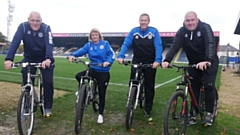 Community Trust staff will be cycling to Bradford City on Saturday to raise money