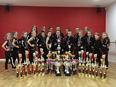 Samba Dance and Fitness show off their trophies