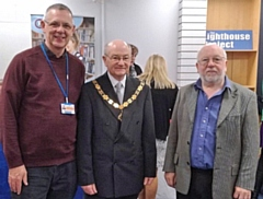 L-R: Carl Roach from the Lighthouse Project, Deputy Mayor Billy Sheerin and Tony Ettenfield, Event Organiser