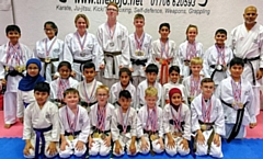 Members of The DOJO Karate Centre with their 62 Medals, 18 Golds, 24 Silvers, 20 Bronze