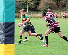 Robbie Nolan had a great game for Littleborough Rugby Union Colts