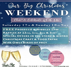 Gordon Rigg Garden, Home and Leisure BIG Christmas Weekend, Saturday 17 and Sunday, 18 November
