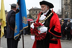 Mayor Mohammed Zaman at Rochdale Remembrance Sunday 2018