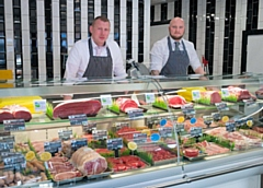 Stephen Bamford and Darren Rushton from Rochdale's Choice Family Butchers