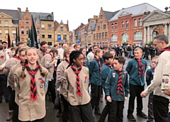 Middleton Scouts Parade and Service at the Menin Gate