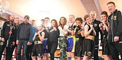 Hamer Amateur Boxing Club team before the bouts