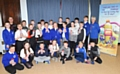 Pupils of St Luke�s C of E Primary School, Heywood at the launch of the Gulp Challenge