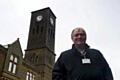 Councillor Neil Butterworth at the Milnrow Clock