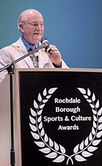 Cllr Billy Sheerin, Deputy Mayor, of Rochdale at the Rochdale Boroughwide Sports and Culture Awards