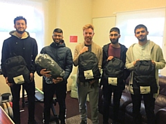 UKIM Madina Mosque with the winter survival kits to help the homeless