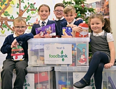 St. James' CofE Primary School Children donate Christmas items for families in need of help