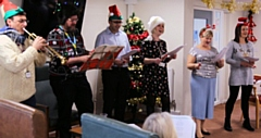 RBH staff bring Christmas cheer to the residents of their Independent Living Schemes in the Rochdale borough