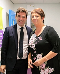 Andy Burnham with Chris Krastins of Grace�s Place