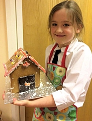 Gingerbread Houses made by Year 6 from St John with St Michael CE Primary School in Shawforth