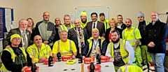 Mayor of Rochdale, Councillors Faisal Rana and Cecile Biant thank the Spotland Clean and Green team and local volunteers