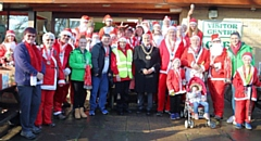 Mayor Mohammed Zaman at the Springhill Hospice�s Santa Dash or Dawdle