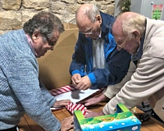 Heywood Rotary Club wrapping Christmas presents
