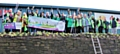 Volunteers planted a winter Wonder Wall at Rochdale AFC on Saturday