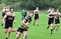 Try scorer George Roberts, Littleborough Rugby Union Colts